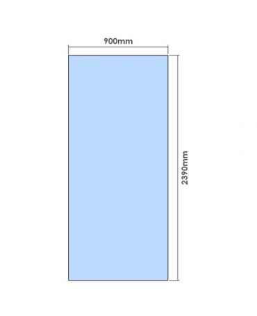 2390mm x 900mm Glass Partition Panel