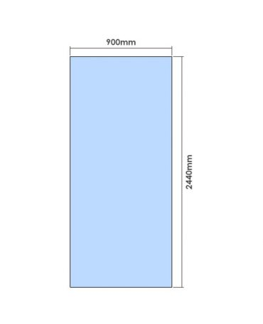 2440mm x 900mm Glass Partition Panel