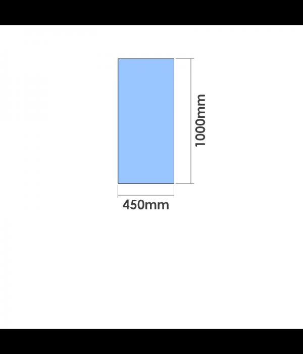 450mm x 1000mm  x 10mm Toughened Glass Balustrade Panel
