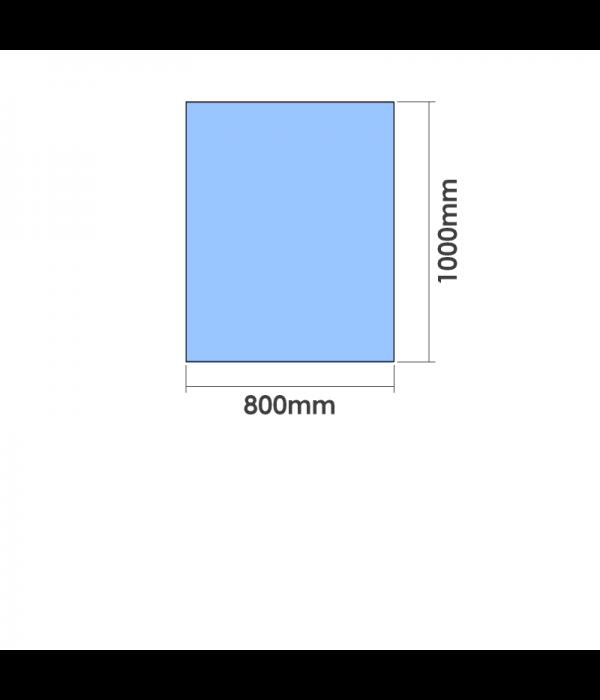 800mm x 1000mm  x 10mm Toughened Glass Balustrade Panel