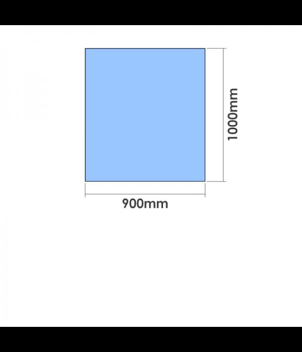 900mm x 1000mm  x 10mm Toughened Glass Balustrade Panel