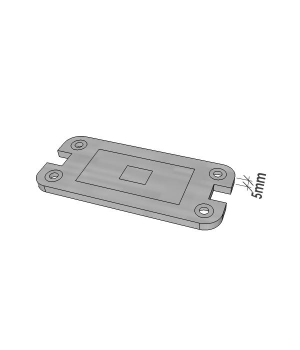 Glass Door Base Plate Packer