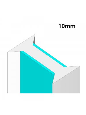 180° Joining Strip For 10mm Glass