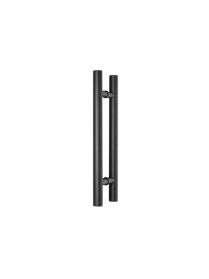 Black 900mm H Handle - Glass Partition Handle