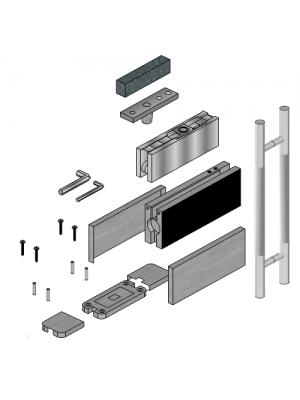 Glass Door Hardware with 900mm H Handle