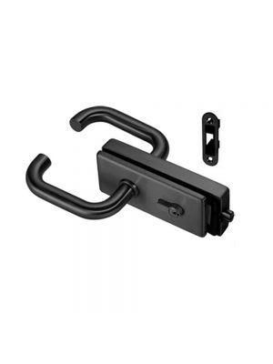 Black Lever Latch Handle for Glass Door