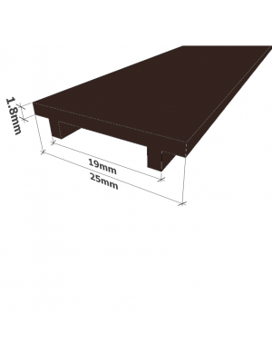 Black Glass Partition Channel Cover Plate