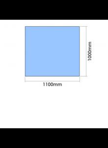 1100mm x 1000mm  x 10mm Toughened Glass Balustrade Panel