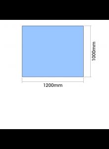 1200mm x 1000mm  x 10mm Toughened Glass Balustrade Panel
