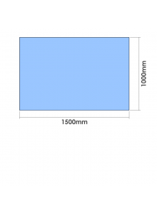1500mm x 1000mm  x 10mm Toughened Glass Balustrade Panel