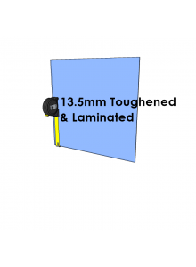 13.5mm Toughened & Laminated Glass - Cut to Size