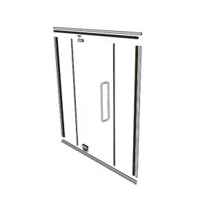 Glass Partition Hardware Kit - Including Door Kit