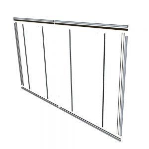 Glass Partition Hardware Kit - No Door