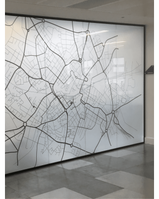 Glass Partitions in Lancashire - Glass Partition Fitting Site Visit