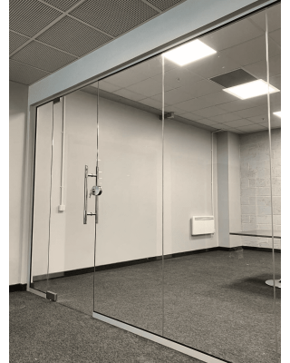 Glass Partitions in Leicestershire - Glass Partition Fitting Site Visit