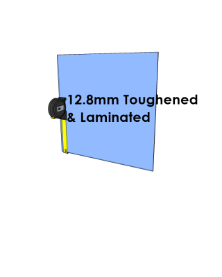 12.8mm Toughened & Laminated Glass Cut to Size