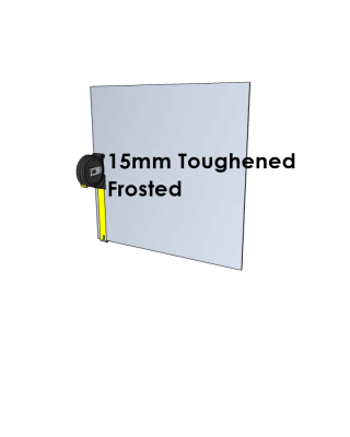 15mm Toughened Glass - Frosted - Cut to Size