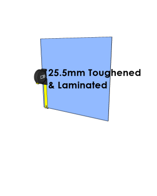 25.5mm Toughened & Laminated Glass - Cut to Size