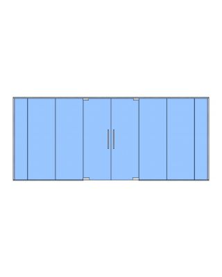 10mm Toughened Glass Partition Kit