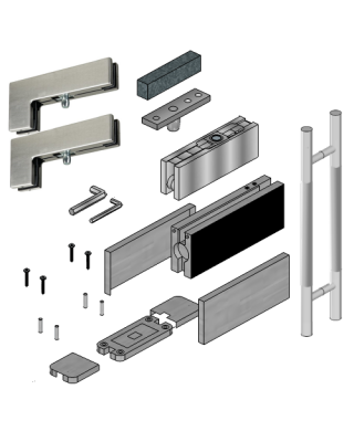 Transom Door Hardware Kit