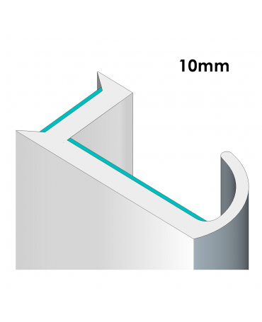 90° Glass Partition Joining Strips For 10mm Glass