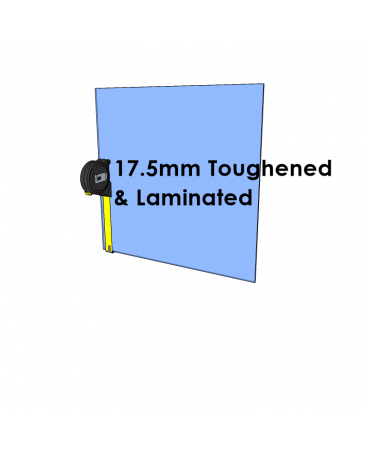 17.5mm Toughened & Laminated Glass - Cut to Size
