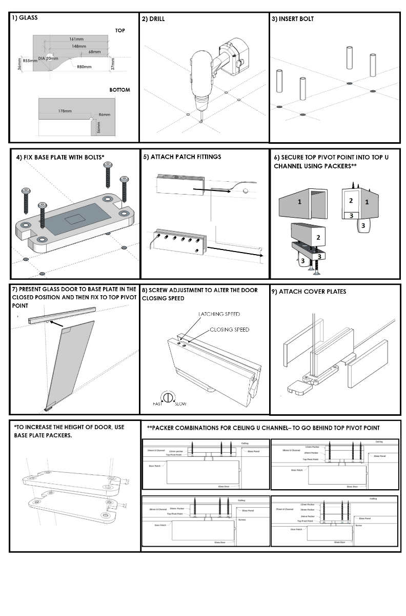 Glass Door Fitting Instructions
