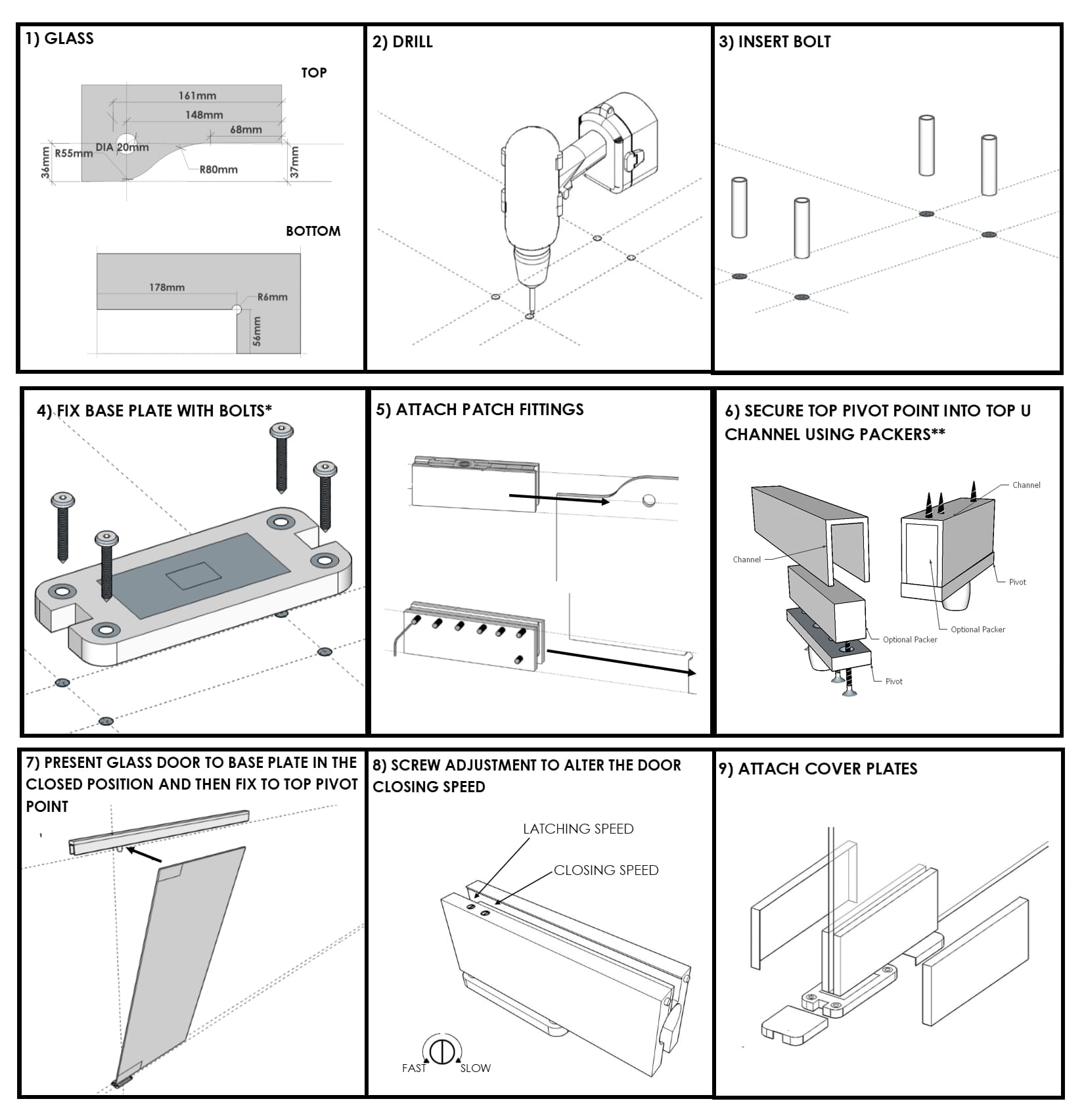 Glass Door Fitting Instructions