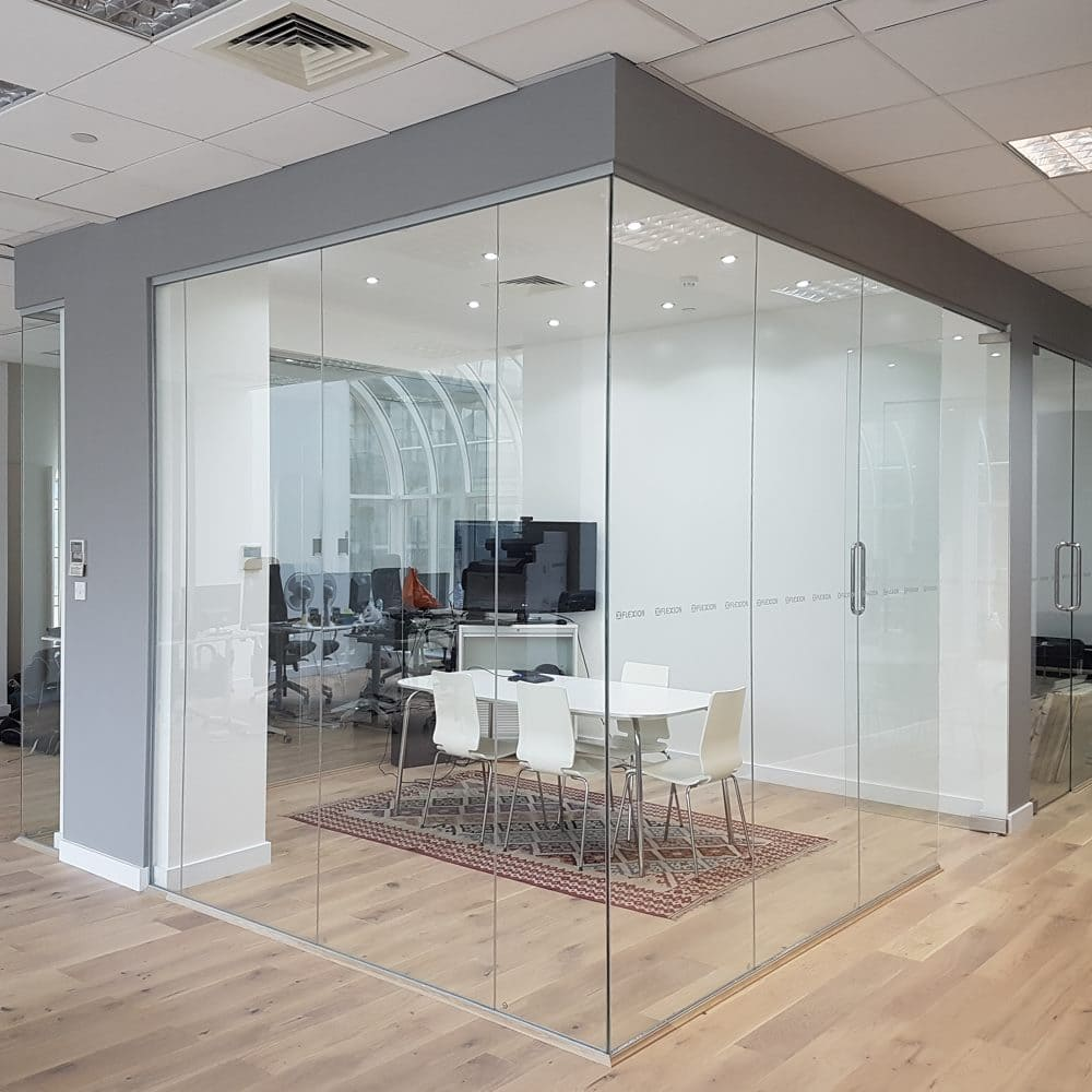 Glass Office Partition style=