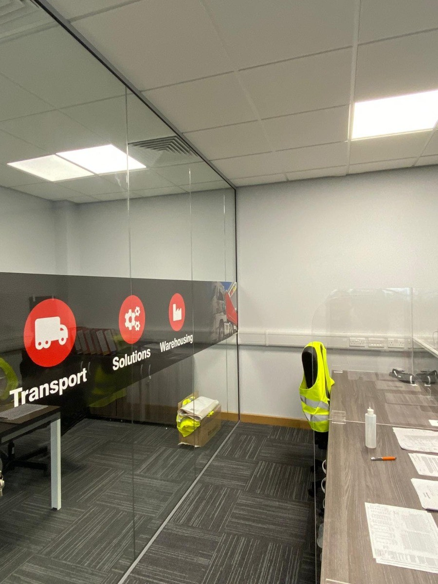 Glass Partitioning in Rugeley