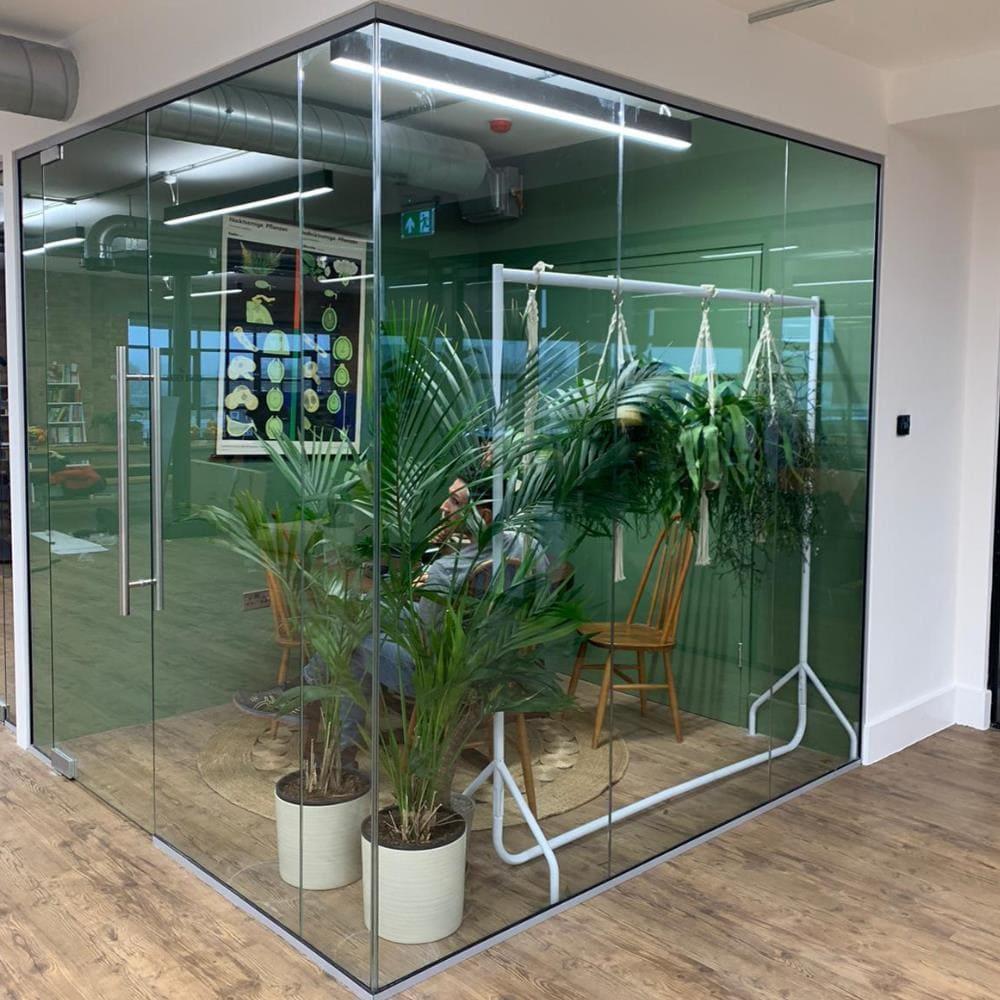 Corner Glass Partition