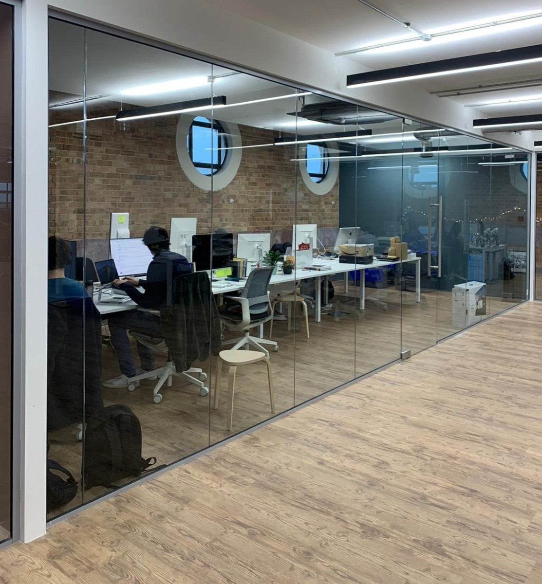 Glass Partitions Delivered