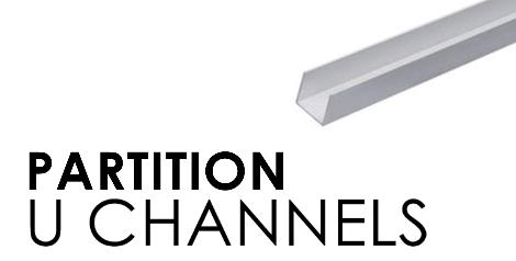 Glass Partition U Channels